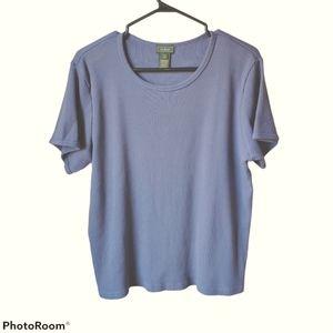 🌺 3/25 L.L. Bean thermal top, purple, Tee shirt